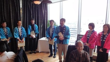 同窓会総会担当学年宣伝部隊at2012年合志会新年会