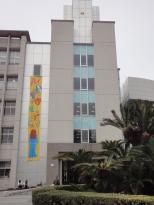 2011年3月19-20日、修猷館文化祭。教室棟入口。