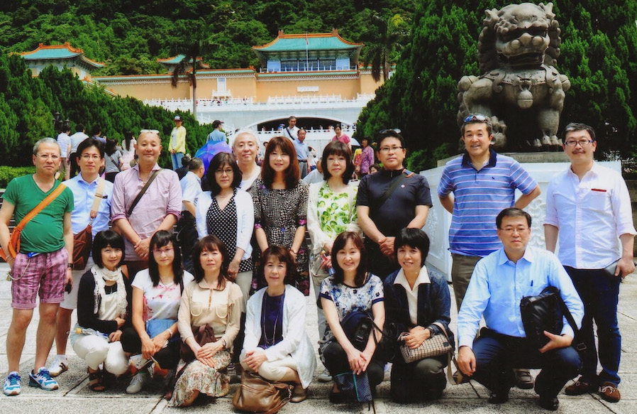 クリックで拡大できます。合志会台湾旅行。